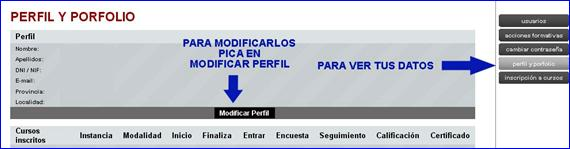 MODIFICAR perfil reducido